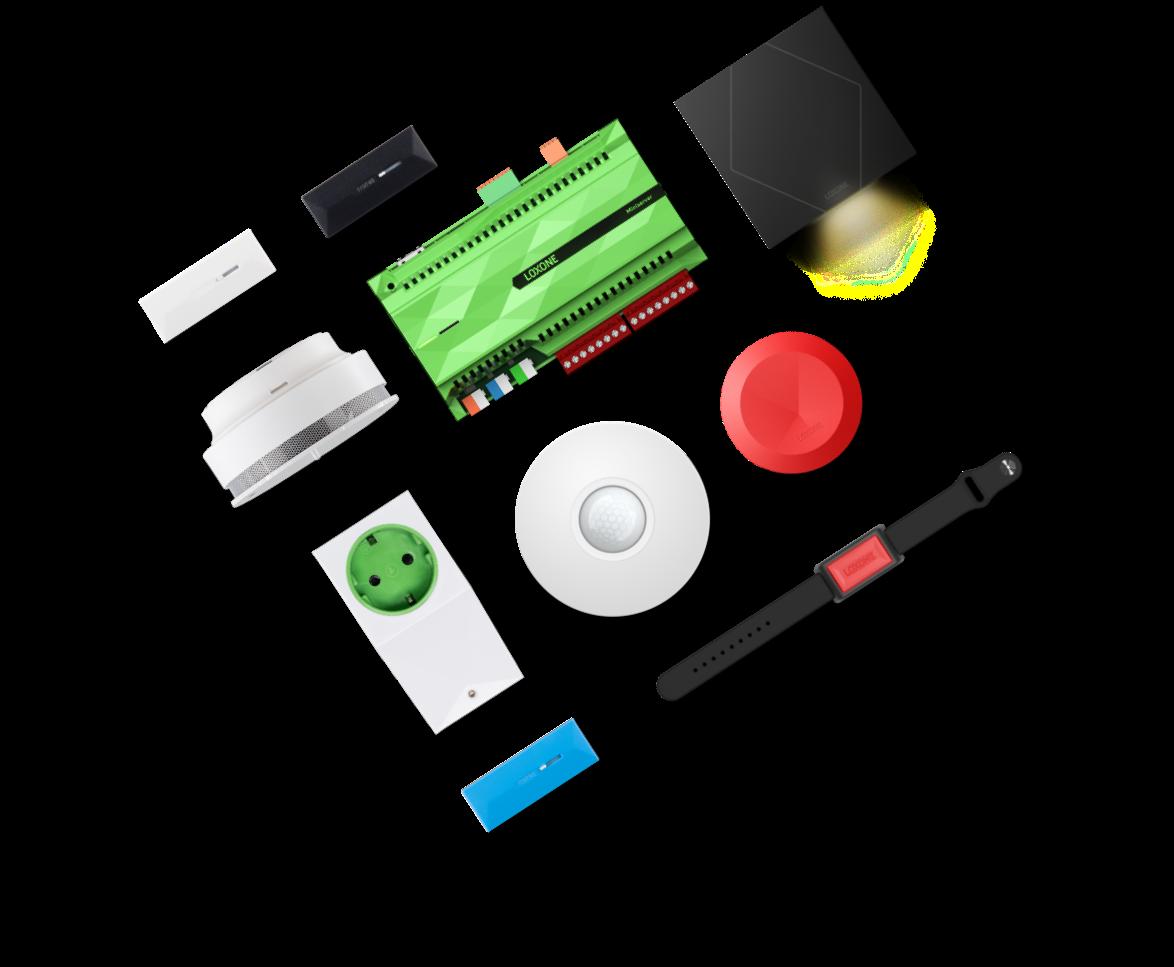 Produkty Loxone pro asistované bydlení