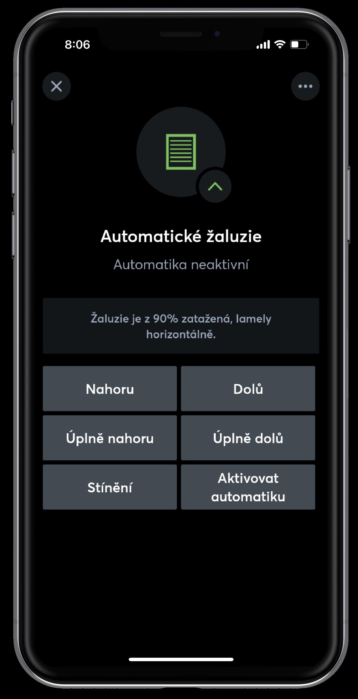 Automatické žaluzie v App