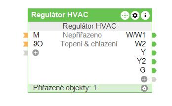 Regulátor HVAC v Configu