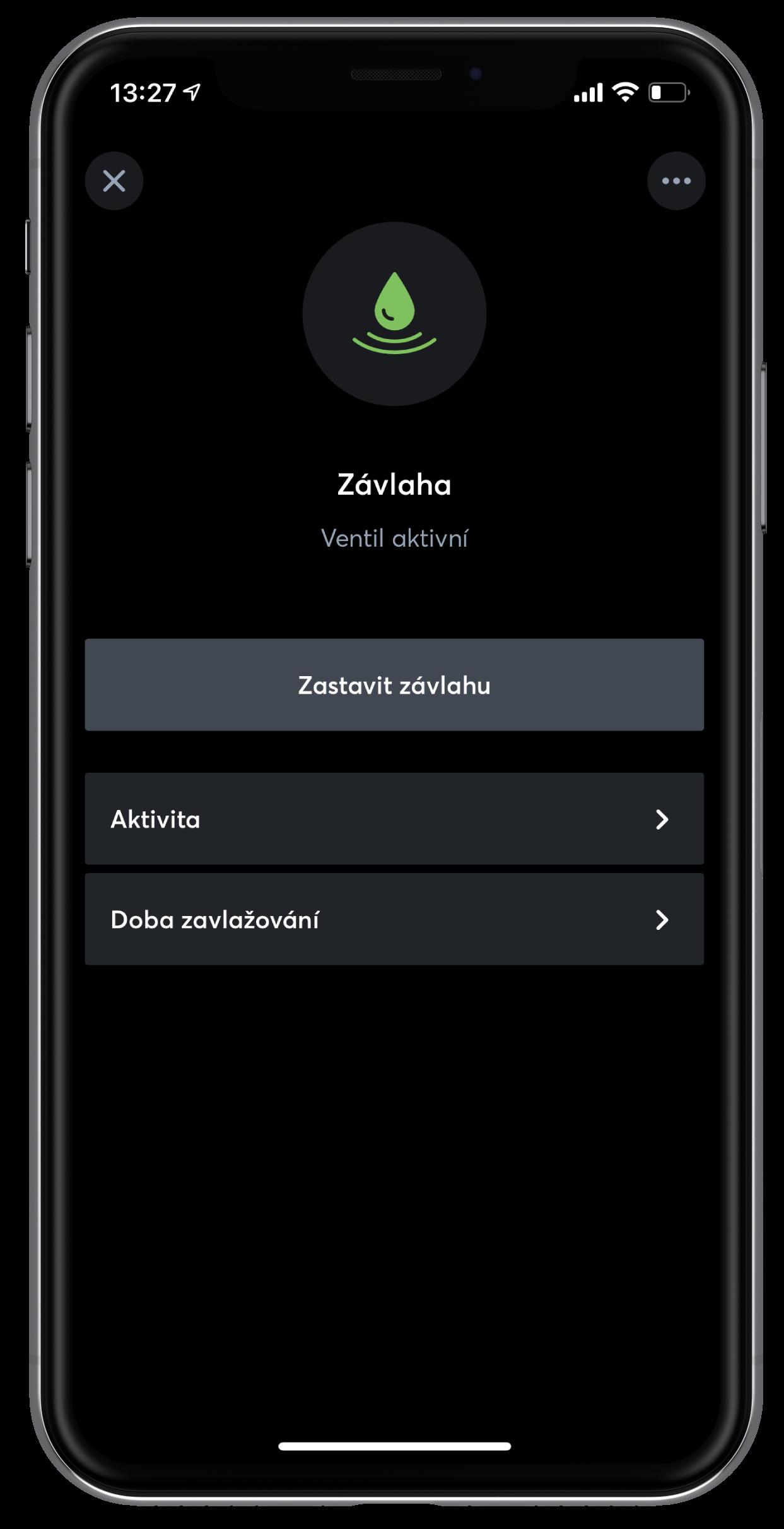 Závlaha v App