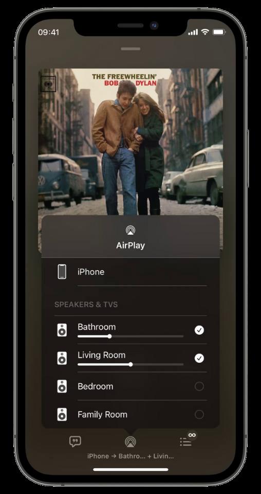 přehrávání ve více pokojích pomocí funkce airplay