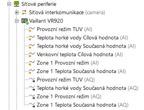 Vaillant VR 920 použití v Configu