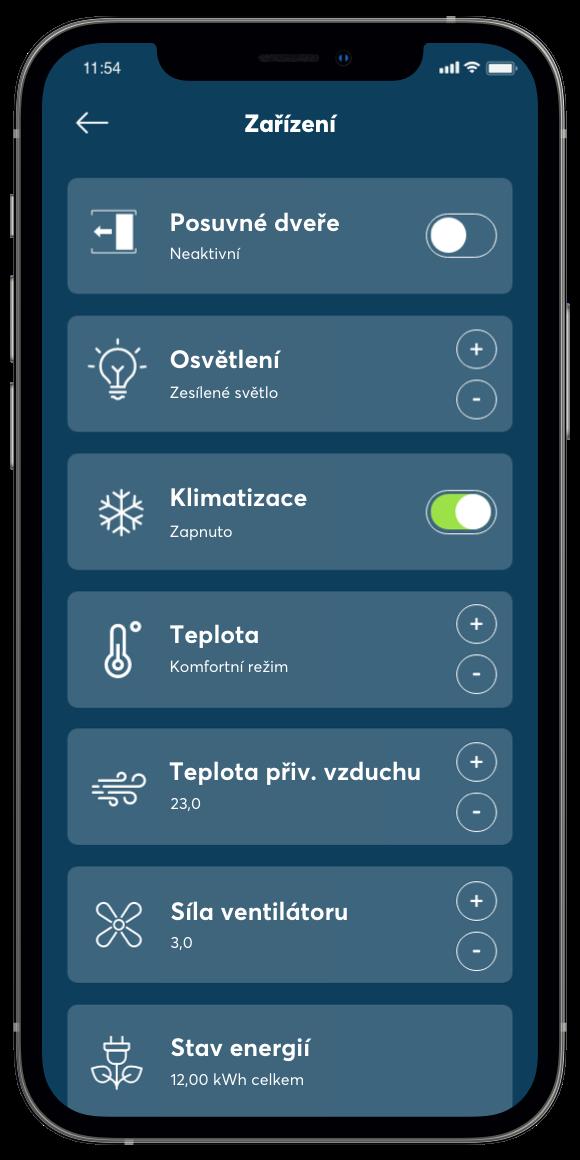 Přehled v aplikaci
