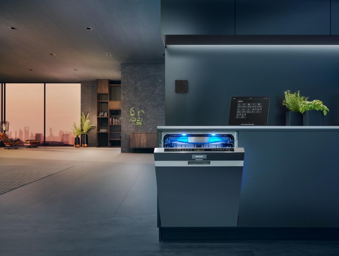 Myčka ovládaná pomocí Loxone a Home Connect