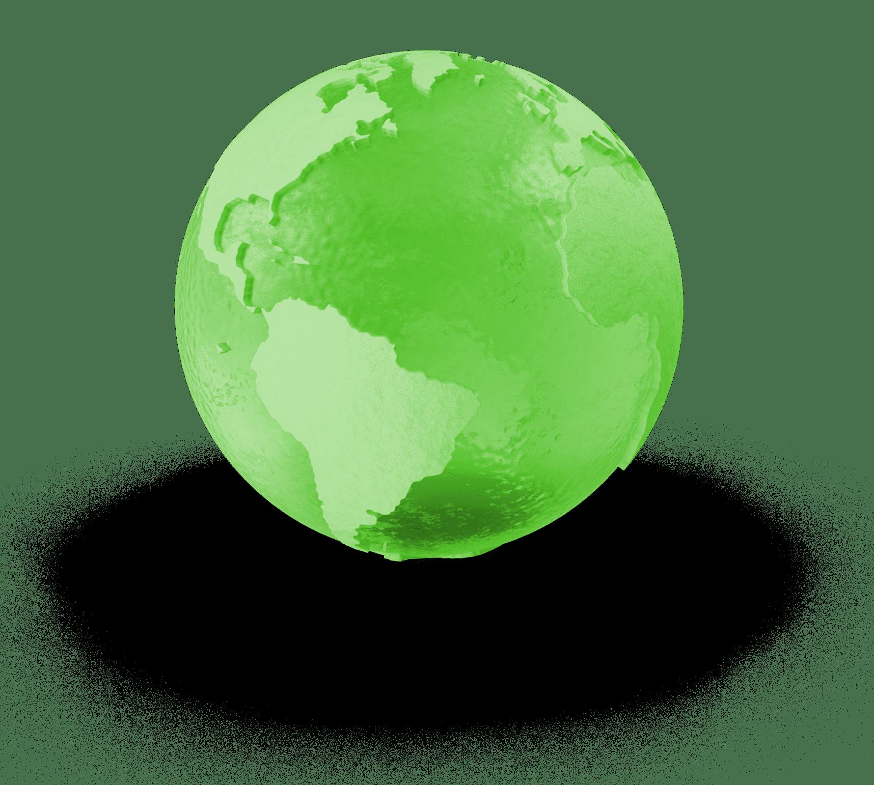 Grafika zelené zeměkoule