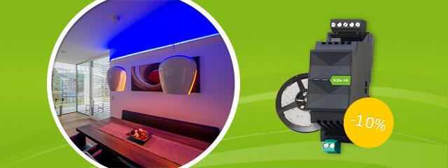 lichtsteuerung leicht gemacht mit unserem rgbw led dimmer. Black Bedroom Furniture Sets. Home Design Ideas