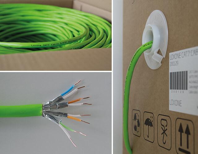 Collage Eindrücke CAT 7 Kabel