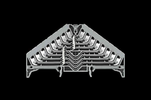8-fach Verteilerklemme - Multifunktionsklemme mit 32 Klemmenstellen
