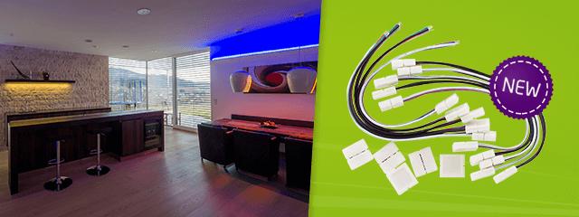 led streifen einfach verbinden mit dem neuen led zubeh r set. Black Bedroom Furniture Sets. Home Design Ideas