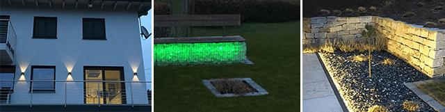 Stimmungsvolle Beleuchtung im Smart Garden