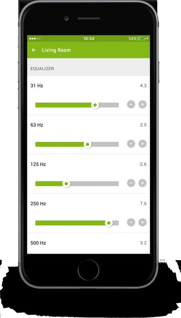Loxone App - Equalizer