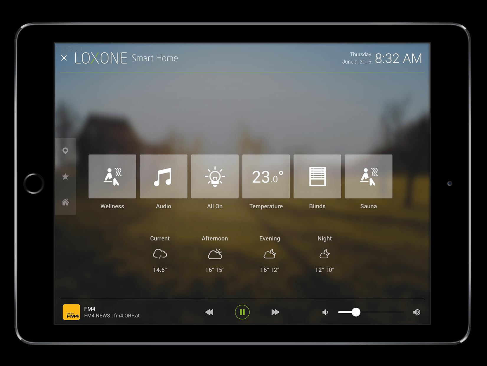 Raummodus in der Loxone App