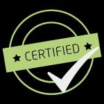 ikona certifikováno