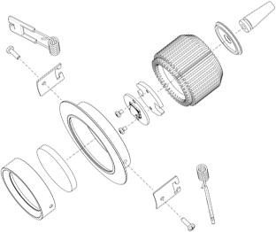 Explosionszeichnung LED Spot WW
