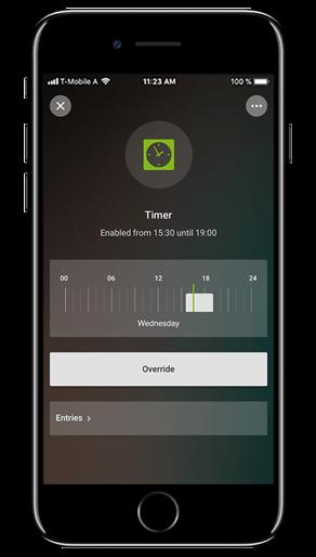 Smart Home App - Betriebszeitzähler