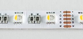 RGBW LED Streifen mit Schutzklasse IP20