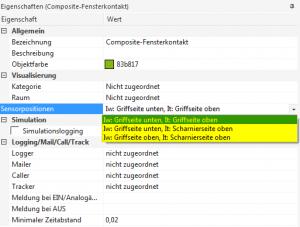 Composit - Fensterkontakt settings
