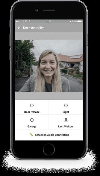 Mockup - Ansicht der Zutrittssteuerung in der App
