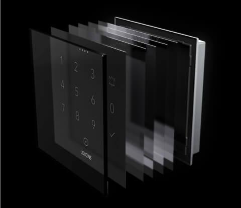 Hochwertige Glasfläche des NFC Code Touch Tasters