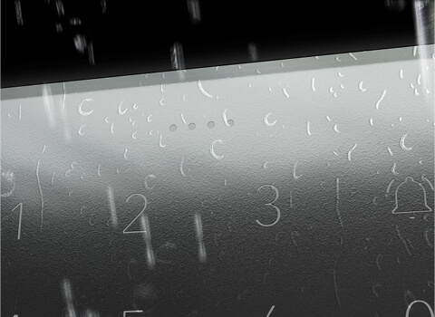 Der Code Touch ist dank Spritzwasserfestigkeit perfekt für den Außeneinsatz geeignet