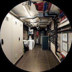 Ansicht Technikraum - Vermeidung von Wasserschäden in Technikräumen
