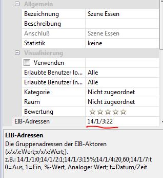 Konfiguration erweiterter EIB Aktor