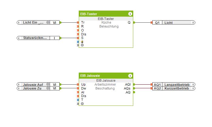 Beispiel KNX Programmierung in der Config
