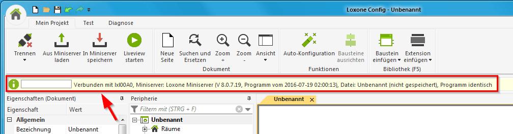 miniserver_statusleiste