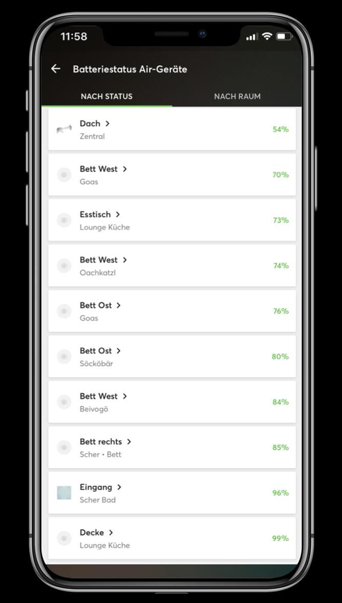 Smart Home App - Batterie Monitor