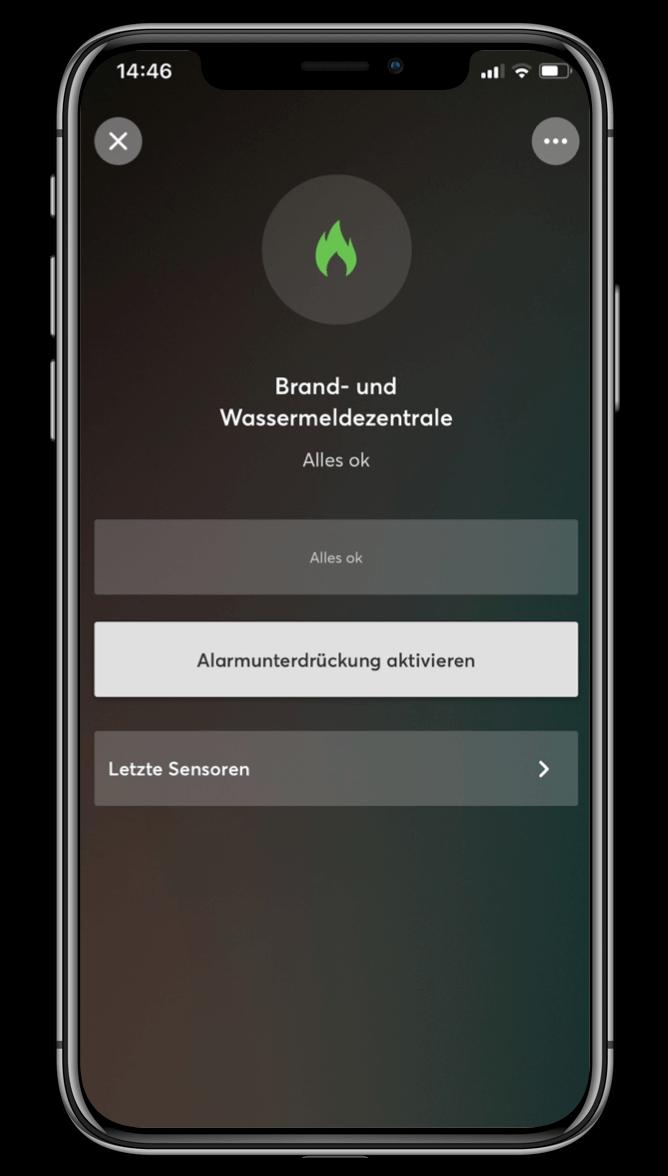 Smart Home App - Brand- und Wassermeldezentrale