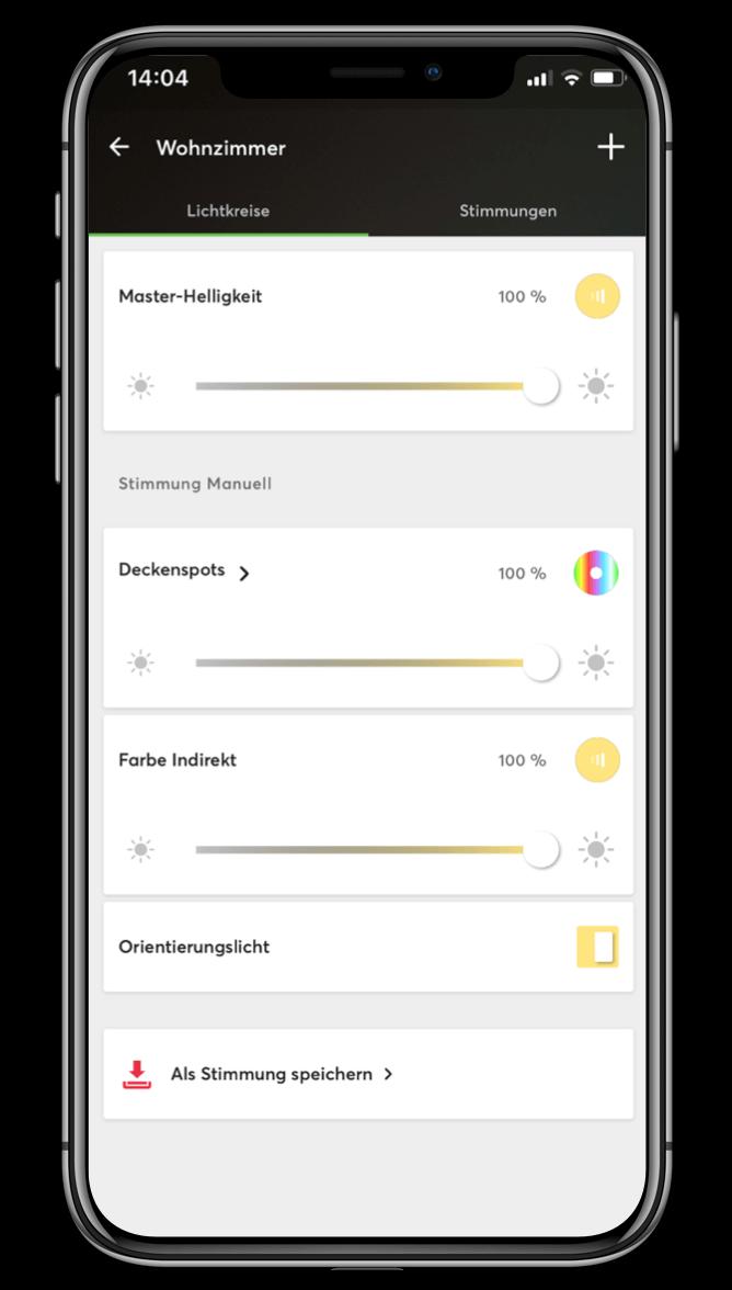 Smart Home App - Lichtstimmungen