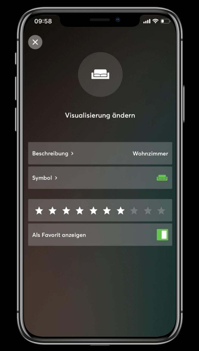 Smart Home App - Visu ändern