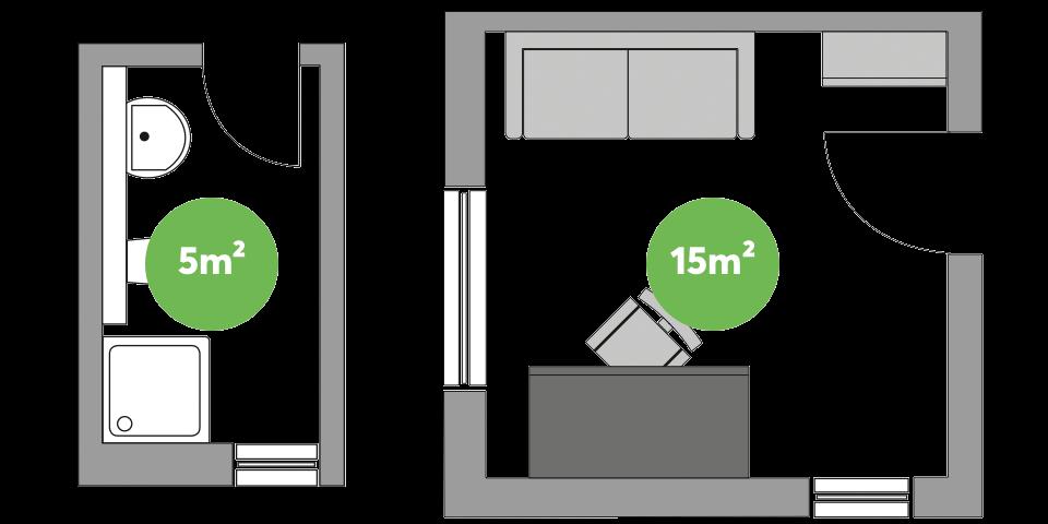 LED Deckenleuchte - ideal für kleine Räume