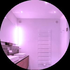 Beispiel LED Beleuchtung im Badezimmer