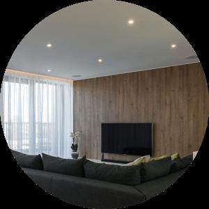 Beispiel LED Beleuchtung im Wohnzimmer