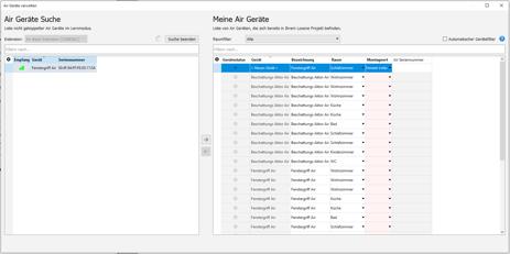 Neues Feature Config 10.2 - Einlernprozess Air