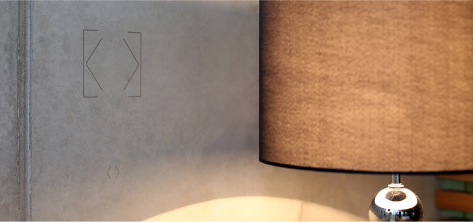 Kapazitiver Sensor im Einsatz - Wand