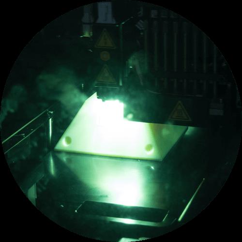 Ein Produkt entsteht im 3D Drucker
