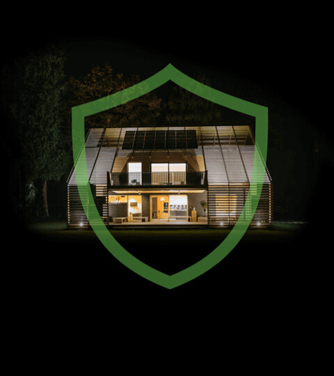 Smart Home mit Schutzschild