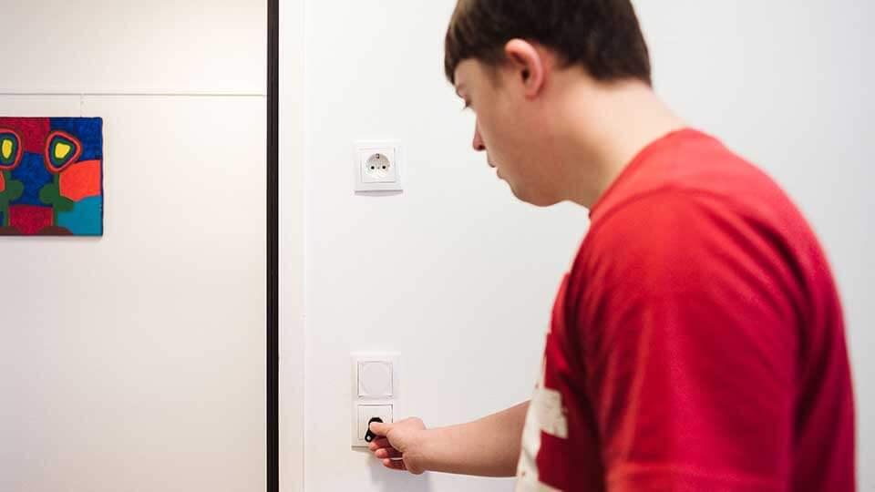 Wohnformen für Menschen mit Behinderung Zutrittskontrolle