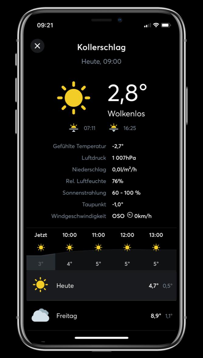 Loxone App - Wetter
