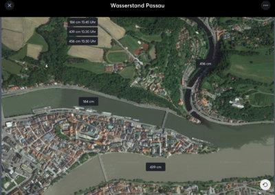 Anlagenschema - Wasserstand Donau
