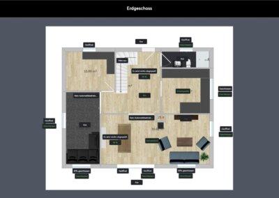 Anlagenschema - Visualisierung Erdgeschoss Einfamilienhaus (von Oliver V.)
