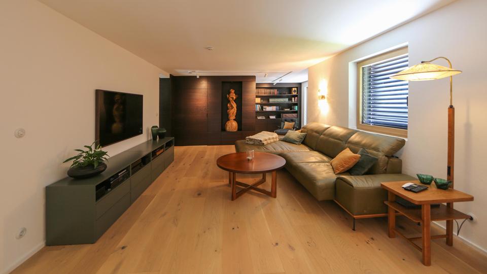 Wohnzimmer im 60er Jahre Stil
