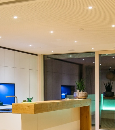 LED Spots Abstand Decke
