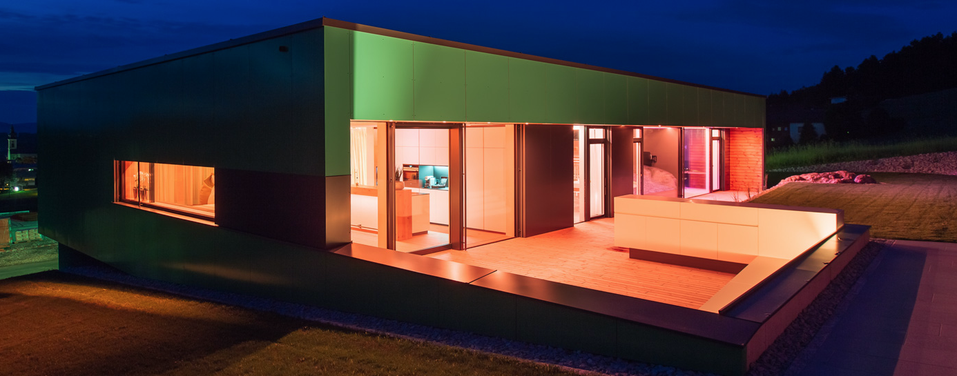 Smart Showhome at Night