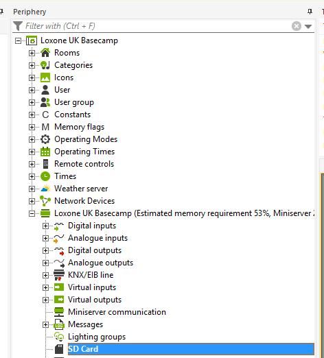 Documentation - Loxone Miniserver - Formatting SD card to factory
