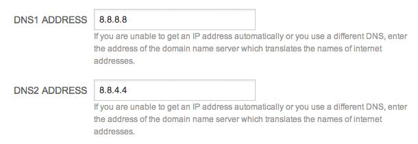 Loxone Cloud DNS Address Settings Google DNS Address