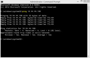 Command Prompt Ping