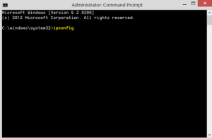 Command Prompt IP Config